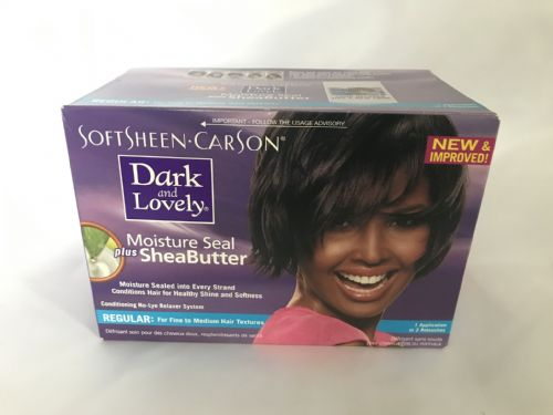 Dark and Lovely Moisture Seal Plus Shea Butter-  No-Lye Relaxer